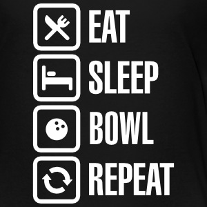 Eat - sleep - bowl - repeat (Bowlen) Shirts - Kinderen Premium T-shirt