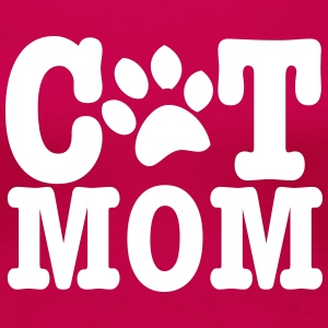 cat mom T-Shirts - Women's Premium T-Shirt