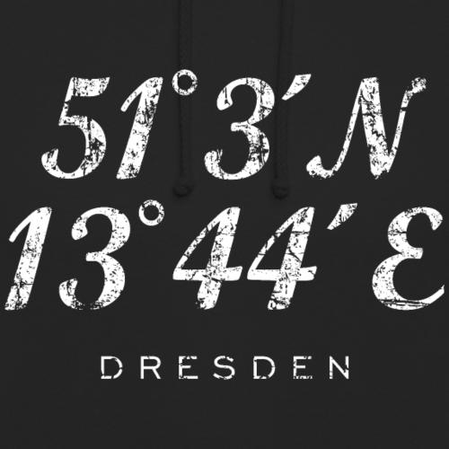 Dresden Koordinaten Vintage Weiß