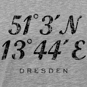 Dresden Koordinaten Vintage Schwarz