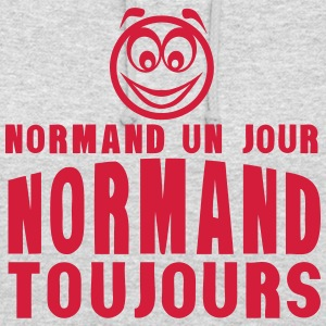 normand un jour toujours smiley 1 Sweat-shirts - Sweat-shirt à capuche unisexe