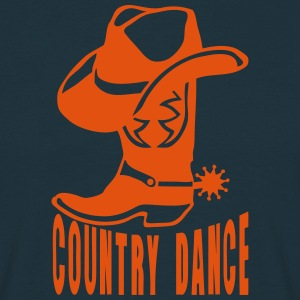 Cowboys country dance boot hat 2_lo T-Shirts - Men's T-Shirt