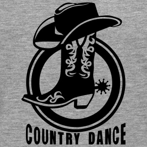 Cowboys country dance boot hat 3_lo Long sleeve shirts - Men's Premium Longsleeve Shirt