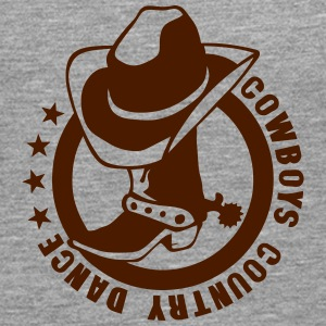Cowboys country dance boot hat Long sleeve shirts - Men's Premium Longsleeve Shirt