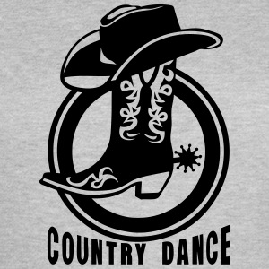 cowboys country dance botte chapeau 3 Tee shirts - T-shirt Femme