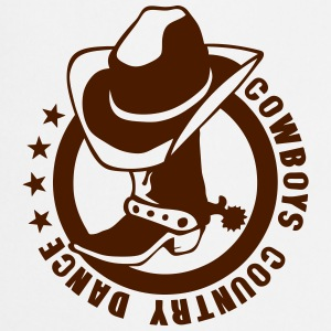 cowboys country dance botte chapeau logo Tabliers - Tablier de cuisine