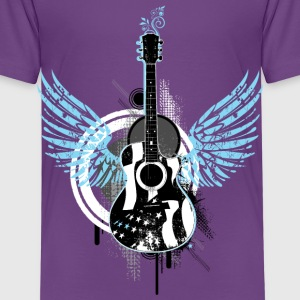 Gitarre guitar Flügel wings Musik music sound - Kinder Premium T-Shirt