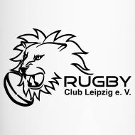 Motiv ~ Thermobecher weiß mit Rugby Club Leipzig Logo
