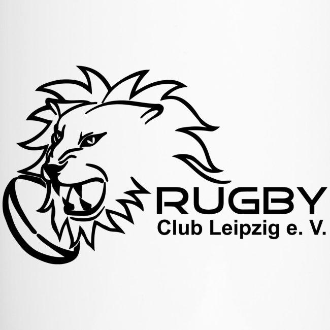 Thermobecher weiß mit Rugby Club Leipzig Logo