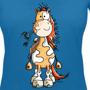 Happy Western Horse T-Shirts - Women's V-Neck T-Shirt