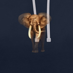 éléphant Sweat-shirts - Sweat-shirt contraste