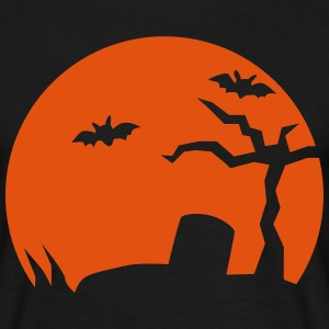 Halloween Friedhof bat T-Shirts - Männer T-Shirt