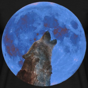 Galaxy Wolf and blue moon T-Shirts - Men's T-Shirt