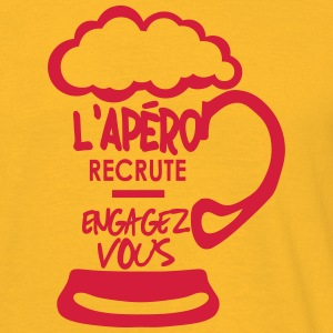 apero recrute engagez vous alcool humour Tee shirts - T-shirt Homme