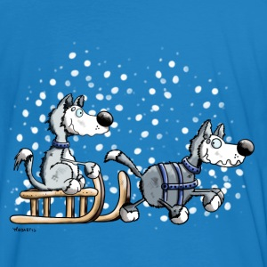 Huskies in the snow T-Shirts - Men's Organic T-shirt