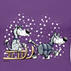 Huskies in the snow T-Shirts - Women's Premium T-Shirt