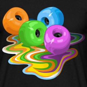 Skateboard wheels - Männer T-Shirt