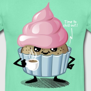 Donker munt Cup and Cake T-shirts - Mannen T-shirt