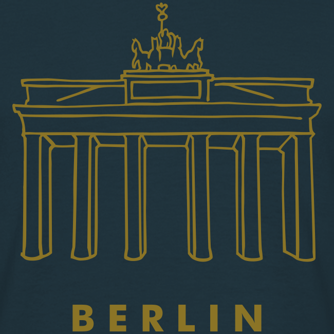 Berlin, Brandenburger Tor (gold)