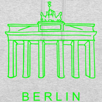 Brandenburger Tor neon-grün Berlin-T-shirt