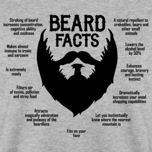 Beard Facts (black) Pullover & Hoodies - Männer Pullover