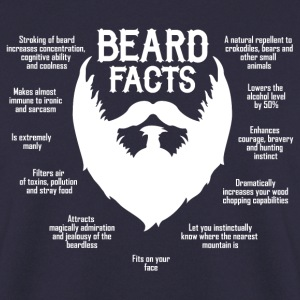 Beard Facts (white) Pullover & Hoodies - Männer Pullover