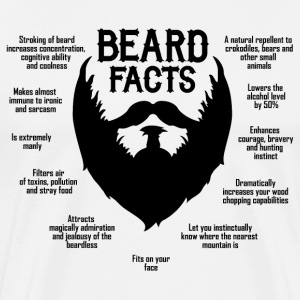Beard Facts (black) T-Shirts - Männer Premium T-Shirt