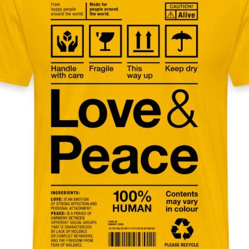 love peace packaging label Paket Versandetikett