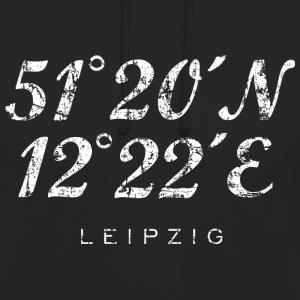 Leipzig Koordinaten Vintage Weiß