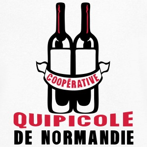 normandie cooperative quipicole bouteill Tee shirts - T-shirt Homme col V