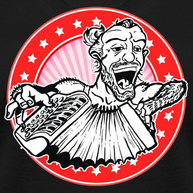 Vrouwen T-shirt met V-hals