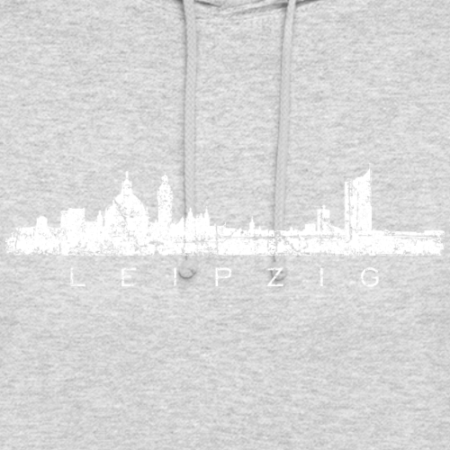 Leipzig Skyline Panorama Vintage Weiß