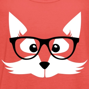 Coral nerd fox with glasses Tops - Women's Tank Top by Bella