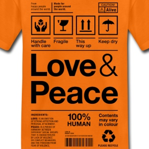 love peace packaging label Versandetikett human - Kinder Premium T-Shirt