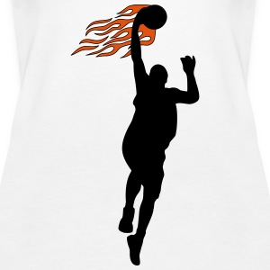 Basketball on fire Toppe - Dame Premium tanktop