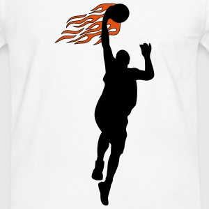 Basketball on fire T-Shirts - Men's Ringer Shirt