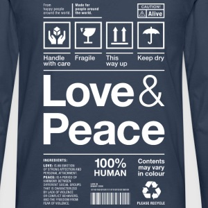 love peace packaging label Versandetikett human - Männer Premium Langarmshirt