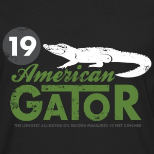 Animal Planet alligator herre T-shirt langærmet - Herre premium T-shirt med lange ærmer