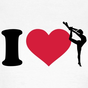 I love Gymnastik T-Shirts - Frauen T-Shirt