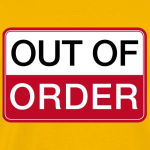 Out of Order Game over BIG BANG lift Warnschild T-Shirts - Männer Premium T-Shirt