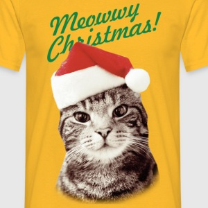 MEOWWY CHRISTMAS FUNNY KITTEN CAT MEN T-SHIRT - Men's T-Shirt