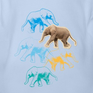Animal Planet Elefant Baby Body - Baby Kurzarm-Body