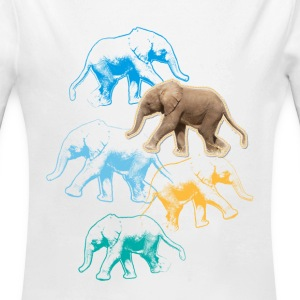 Animal Planet Elefant Baby Body - Baby Bio-Langarm-Body