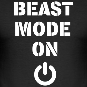 BEAST MODE ON - Männer Slim Fit T-Shirt