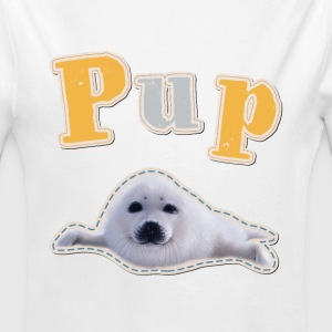 Animal Planet Pup Robbe Baby Body - Baby Bio-Langarm-Body