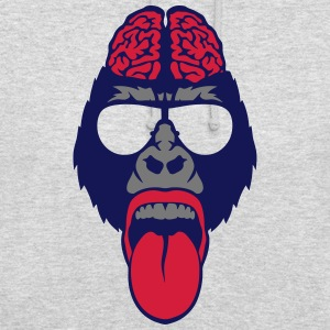 Gorilla brain tongue brain  Hoodies & Sweatshirts - Unisex Hoodie