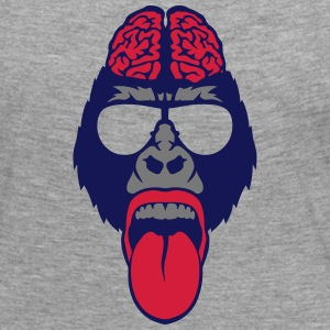 Gorilla brain tongue brain  Long Sleeve Shirts - Women's Premium Longsleeve Shirt