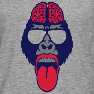 Gorilla brain tongue brain  Long sleeve shirts - Men's Premium Longsleeve Shirt
