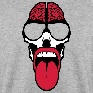 skull Head tongue brain tongue Hoodies & Sweatshirts - Men's Sweatshirt