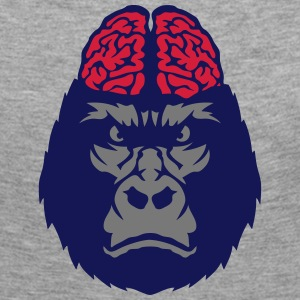Gorilla brain head monkey Long Sleeve Shirts - Women's Premium Longsleeve Shirt